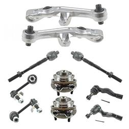 10 Piece Steering & Suspension Kit Control Arms Wheel Bearin