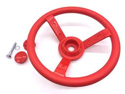 HappyPie 11.8'' Dia Steering Wheels Toy Playground Small Cab