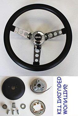 1976-1995 Jeep CJ CJ5 CJ7 YJ Classic GRANT Black Steering Wh