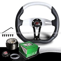 2002-2006 Acura RSX Black / Silver Steering Wheel with Hub A