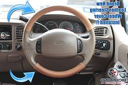 2003-2007 Ford F-350 King Ranch Leather Steering Wheel Cover