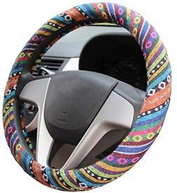 Istn 2016 Ethnic Style Coarse Flax Cloth Automotive Steering