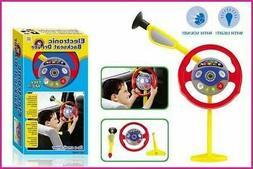 "28"" Kids Electronic Backseat Driver Toy Steering Wheel Sound"