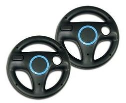 2x Generic Mario Kart Racing Steering Wheel For Wii Games