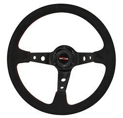 AJP Distributors 350mm Black Suede Steering Wheel