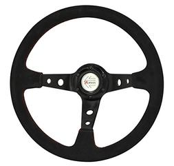 350mm black suede steering wheel type r