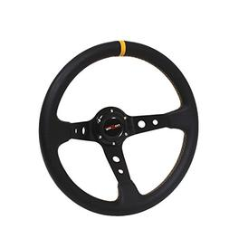 350mm Deep Dish Steering Wheel 6 Bolt Universal Custom