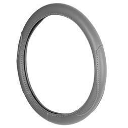 Custom Accessories 38854P Grey Leatherette Steering Wheel Co