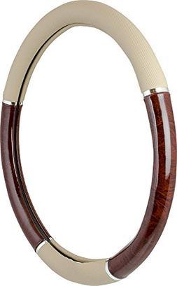 Custom Accessories 39200P Steering Wheel Cover with Woodgrai