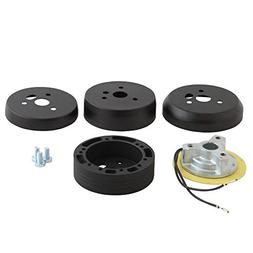 5 /& 6 Hole Matte Black Hub Adapter Installation Kit B02 for Aftermarket Steering Wheels
