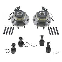 6 Piece Steering & Suspension Kit Upper & Lower Ball Joints
