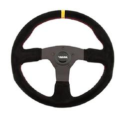 Grant 8547 Suede Series Round Racing Steering Wheel with Yel