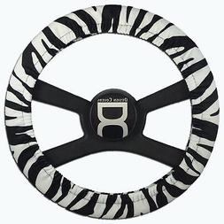 Black and white zebra steering wheel cover by Designcovers