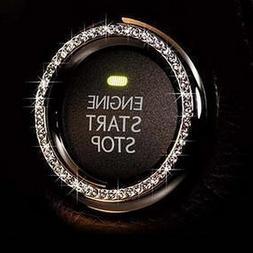 Bling Car Decor Crystal Rhinestone Car Bling Ring Emblem Sti
