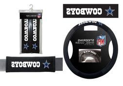 Dallas Cowboys Steering Wheel Cover Poly Mesh Suede & Seat B