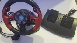 New Steering Wheel Driving Pedals Racing Video Game for Play