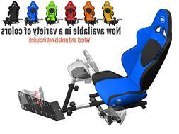 Openwheeler GEN2 Racing Wheel Stand Cockpit Blue on Black |