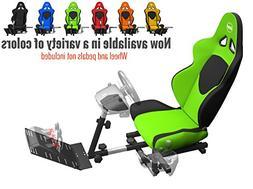 Openwheeler GEN2 Racing Wheel Stand Cockpit Green on Black |