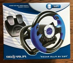 PS2  V8 Plus Racer, Play On Steering Wheel with Foot Pedals