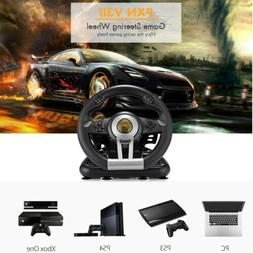 PXN V3II Racing Game Steering Wheel with Brake Pedal for PC