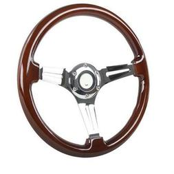 Spec-D Tuning SW-112-W-SD 350 mm Wooden Steering Wheel for A