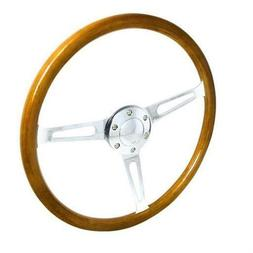 Spec-D Tuning SW-W-112 Wooden Steering Wheel for All 4 x 16