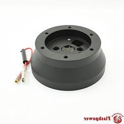 Steering Wheel Short Hub Adapter Billet Black used with Quic
