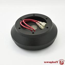Steering wheel short hub adapter Billet Black for Ford