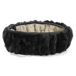 Uxcell a16042600ux0417 Black Warm Fluffy Soft Plush Flexible