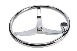 Amarine-made Stainless Steel Boat Steering Wheel 3 Spoke 13-