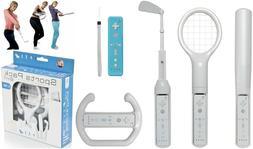 6 in 1 Wii Controller Sports Pack Golf Tennis Baseball Bat S