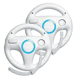 Beastron Mario Kart Racing Wheel for Nintendo Wii, 2 Sets Wh