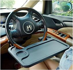 REAMTOP Black Portable Car Laptop Desk and Steering Wheel Tr