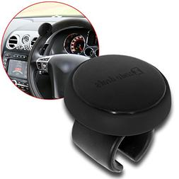 Zento Deals Black Silicone Steering Wheel Spinner- ABS Mater