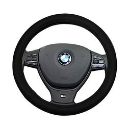 SCITOO Black Universal 15 Inch Steering Wheel Cover Polyeste