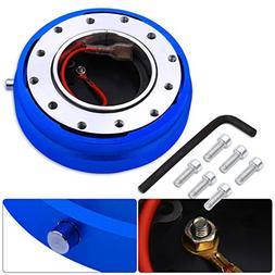 AJP Distributors Blue Thin Slim Quick Release Steering Wheel