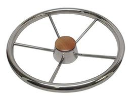 Pactrade Marine Boat Stainless Steel Five Spoke Steering Whe