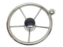 Pactrade Marine Boat Stainless Steel Steering Wheel with Tur