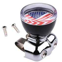 Ecosin Car Accessory Auto USA American Flag Steering Wheel S
