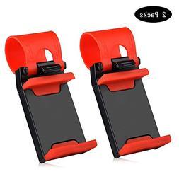 Car Mount,Car Steering Wheel Mount Holder For Most Phones, i