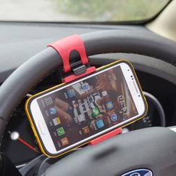 Car Steering Wheel Mobile Phone Holder Bracket Stand Socket