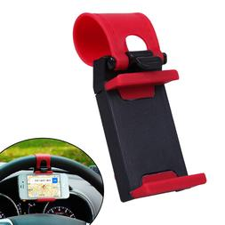 Car Steering Wheel Mount Holder Rubber Band For iPhone Smart