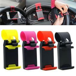 Car Steering Wheel Phone Clip Mount Holder Universal Bike Au