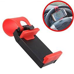 Car Steering Wheel Phone Holder Mount Compact Cradle for iPh