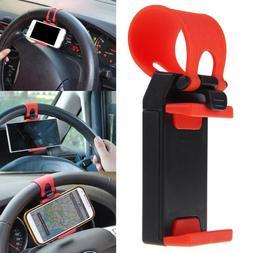 Car Steering Wheel Phone Mount Holder Clip Bracket For IPhon