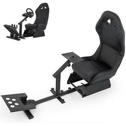 cockpit simulator seat with gear shifter mount