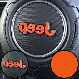 Colormatched Steering Wheel Jeep Logo Emblem Overlay Vinyl D