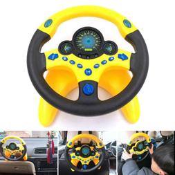 Copilot Simulated Steering Wheel Toy Portable Pretend Play T