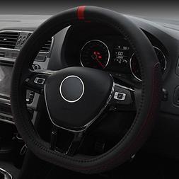 d type fashionable microfiber leather steering wheel