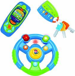 Developmental Toy Steering Wheel, Cell Phone & Car Keys Set